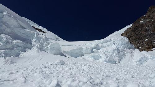 avalanche glacier seracs