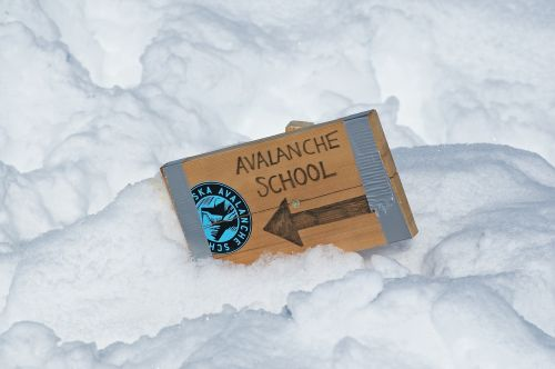 avalanche snow sign