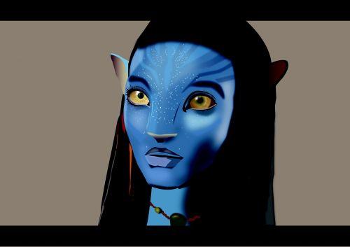 avatar neytiri blue character