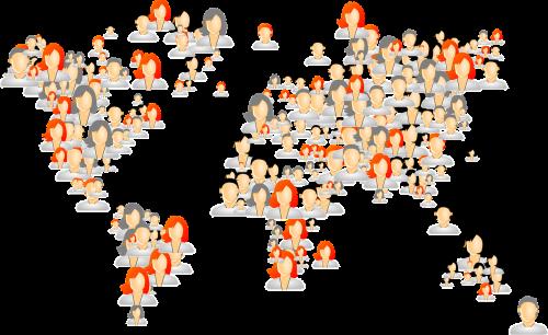 avatars world map people
