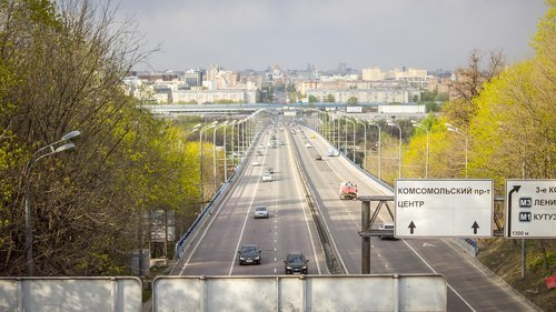 avenue  highway  moscow