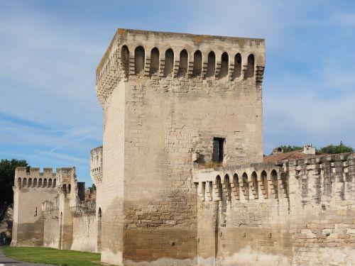 avignon city wall defensive tower
