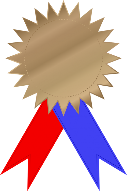 award bronze celebration