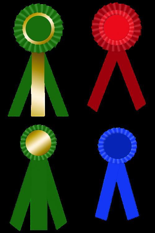 award ribbon medal