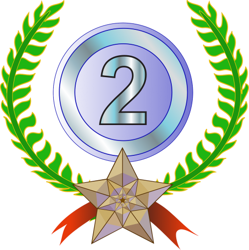 award trophy laurel wreath