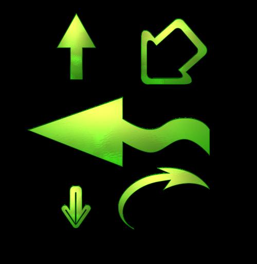 away arrow arrows