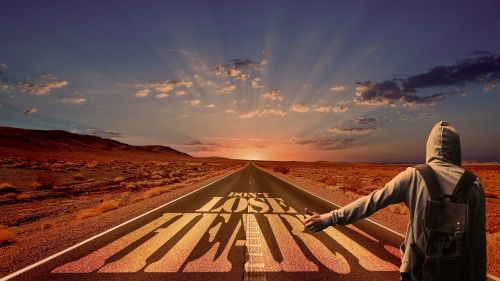 away road hitch-hike