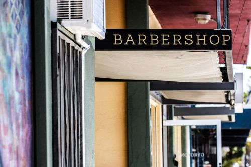awning barbershop commercial spaces