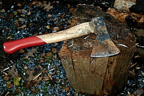 ax hatchet block
