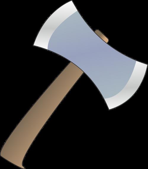 axe cutting lumberjack