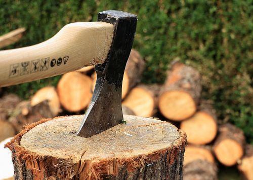 axe wooden block wood chop