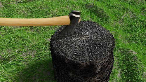 axe wood grass