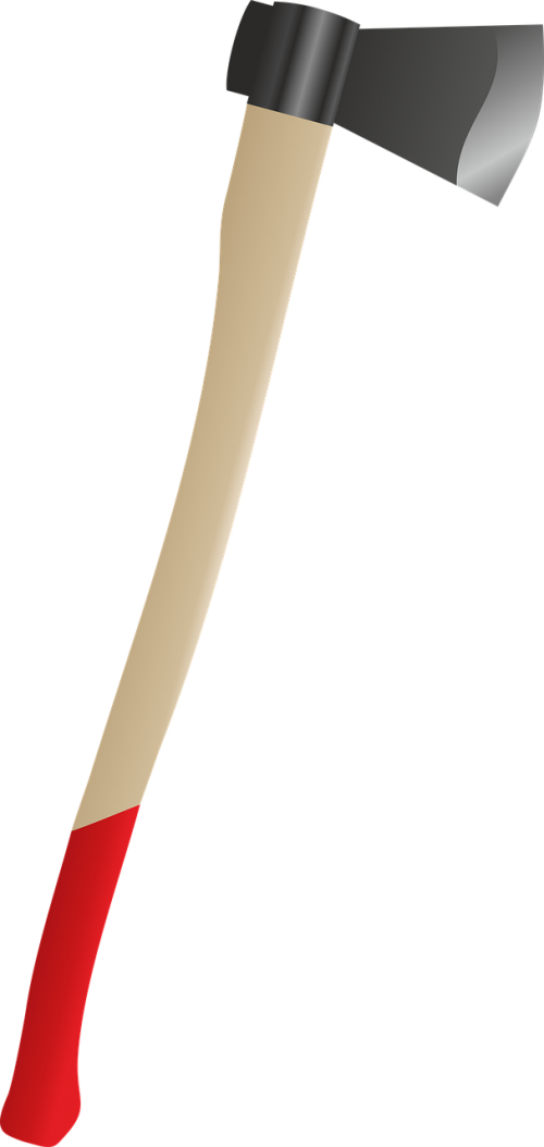 axe red pen fire axe