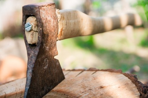 axe  wood  hack