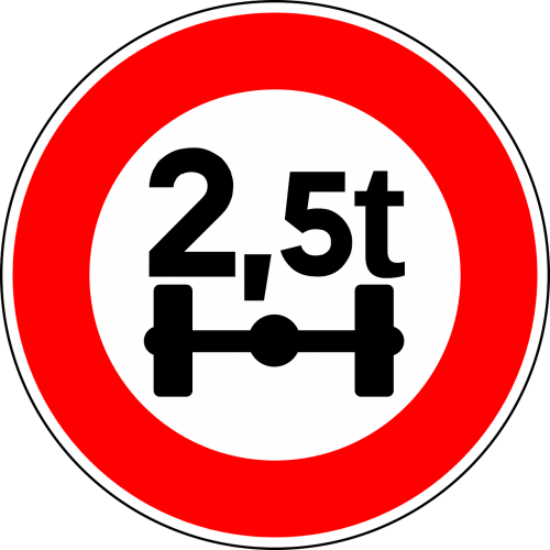 axle load limit load limit sign