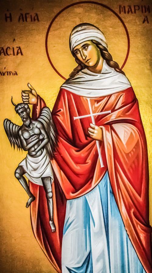 ayia marina saint iconography