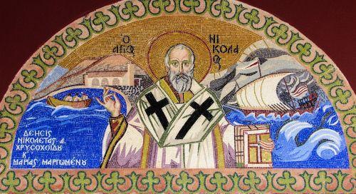 ayios nikolaos saint mosaic