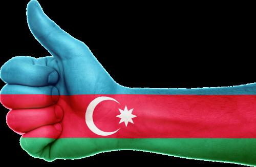 azerbaijan flag hand