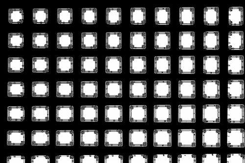 B & W Decorative Block Pattern