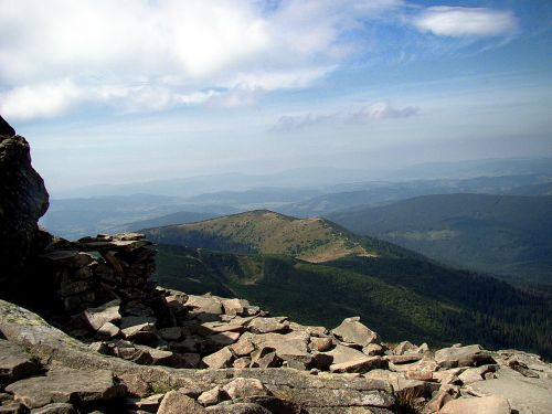 babia top beskids mountains