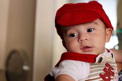 baby smiling bonnet