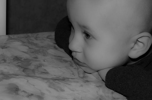 baby thoughts bw