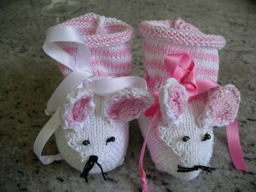 baby mouse shoes knit