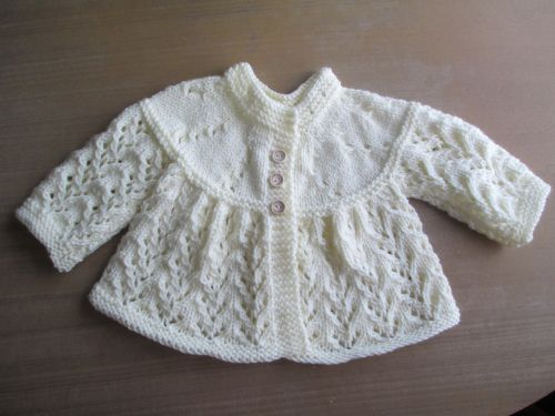 baby cardigan knitted