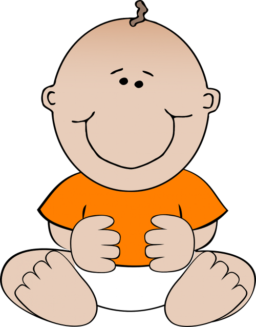 baby orange infant