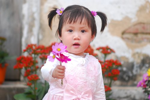 baby  flower  crying