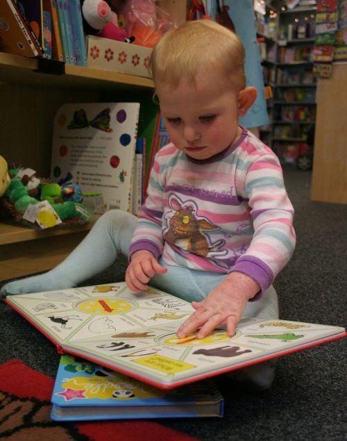 baby toddler reading
