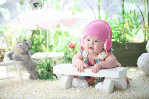 baby headphone pink hat
