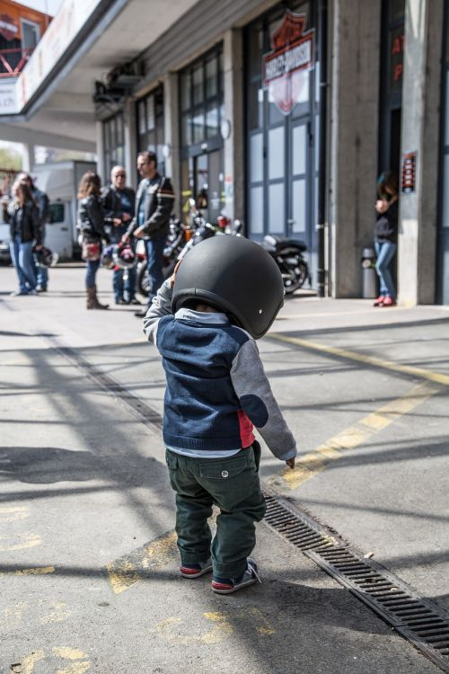 baby biker harley motorcycle