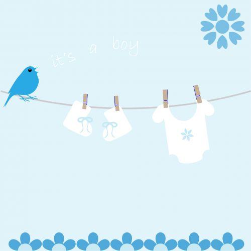 Baby Boy Card Announcement