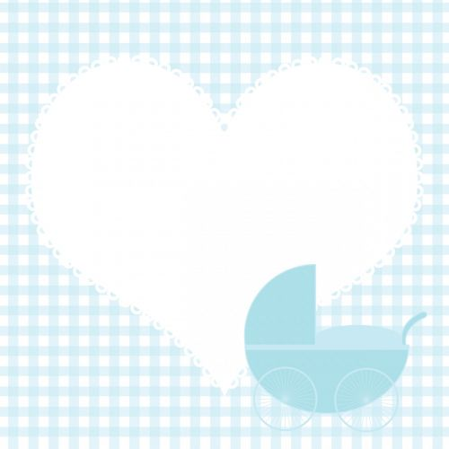 Baby Boy Heart Background