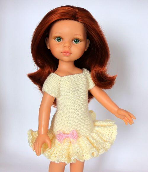 baby doll redhead doll knitting