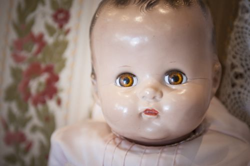 baby doll porcelain childhood