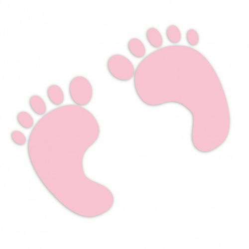 baby footprint baby footprints pink