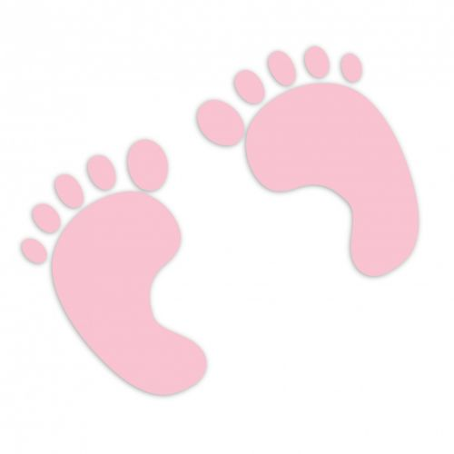 Baby Footprints Pink Clipart
