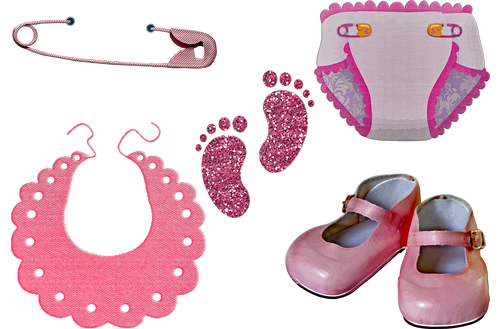 baby girl clothes  diaper  baby shoes