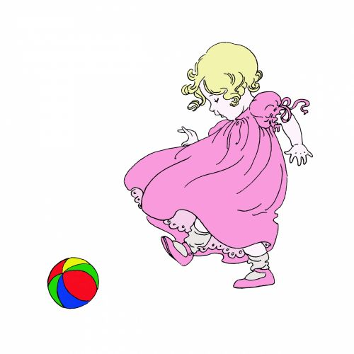 Baby Girl Illustration Clipart