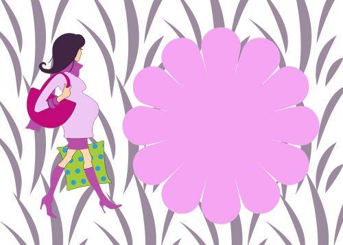 baby girl invite baby shower pink