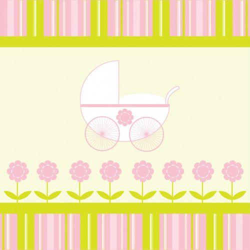 Baby Girl Stroller Background