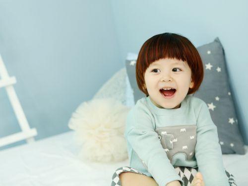 baby models cyan light blue