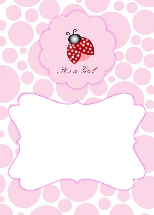baby shower lady bug invite invitation