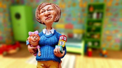baby-sitter children educator children's room