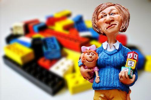 baby-sitter children educator lego