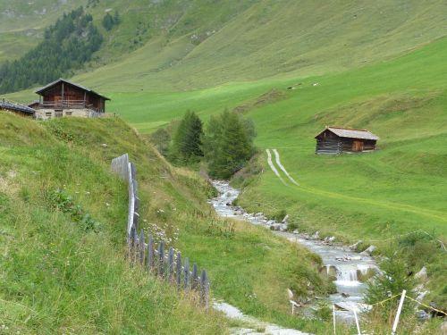 bach mountains south tyrol