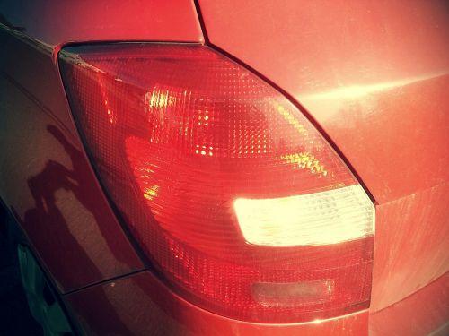 back light brake light red