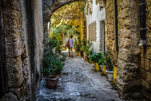 Back Street In Rhodes Greece